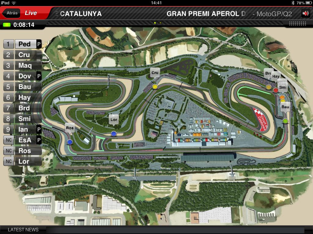 Circuito Montmelo : Vista del circuito de montmeló durante el gp de cataluña