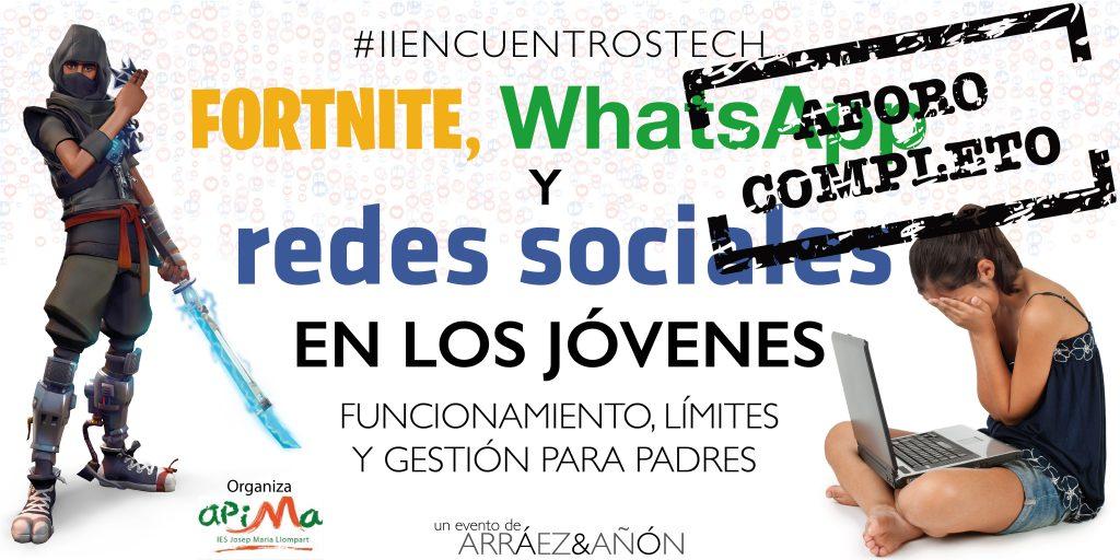 fortnite whatsapp y redes sociales en los jovenes